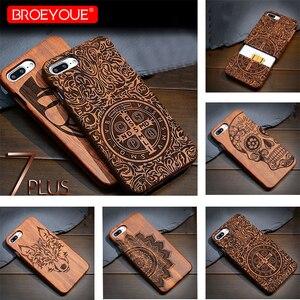 Image 1 - Volle Holz Fall Für Samsung Galaxy S6 S7 S8 S9 Rand Plus 100% Retro Natur Bambus Fall Für Samsung Galaxy hinweis 8 9 Für iPhone XR