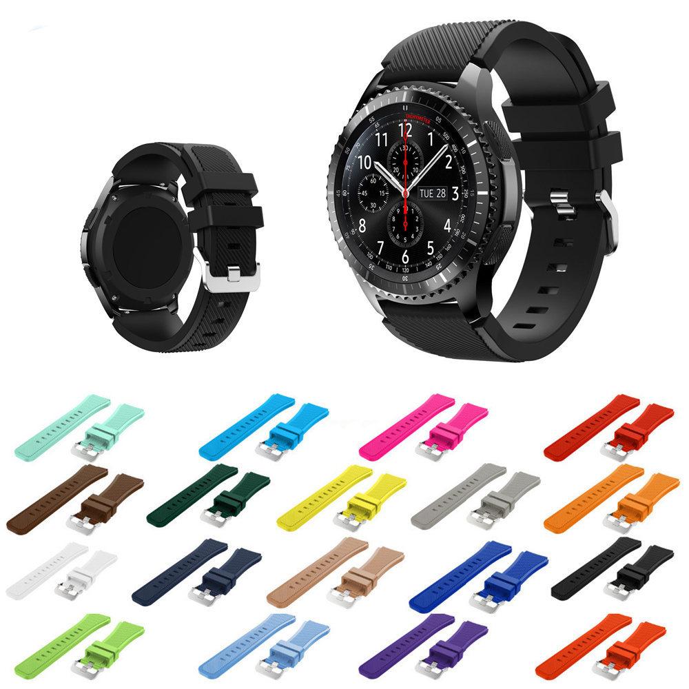 Sport Strap for samsung gear s3 Frontier/Classic band smart watch bracelet Silicone wrist belt Watchband Replacement wristband large small size sport silicone replacement watch wrist strap bands for samsung gear fit 2 r360 watch band conjoined watch band