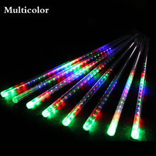 50cm 30cm 8 Tubes 144 LED 240LED Light Meteor Shower Rain Snowfall Plug-In String Lights for Holiday Christmas Party(China)