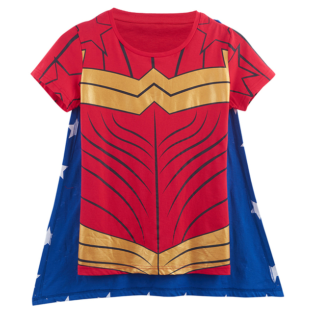 Wonder Woman T Shirt With Cape-in T-Shirts from Women s Clothing ... 9a28c39b438fe