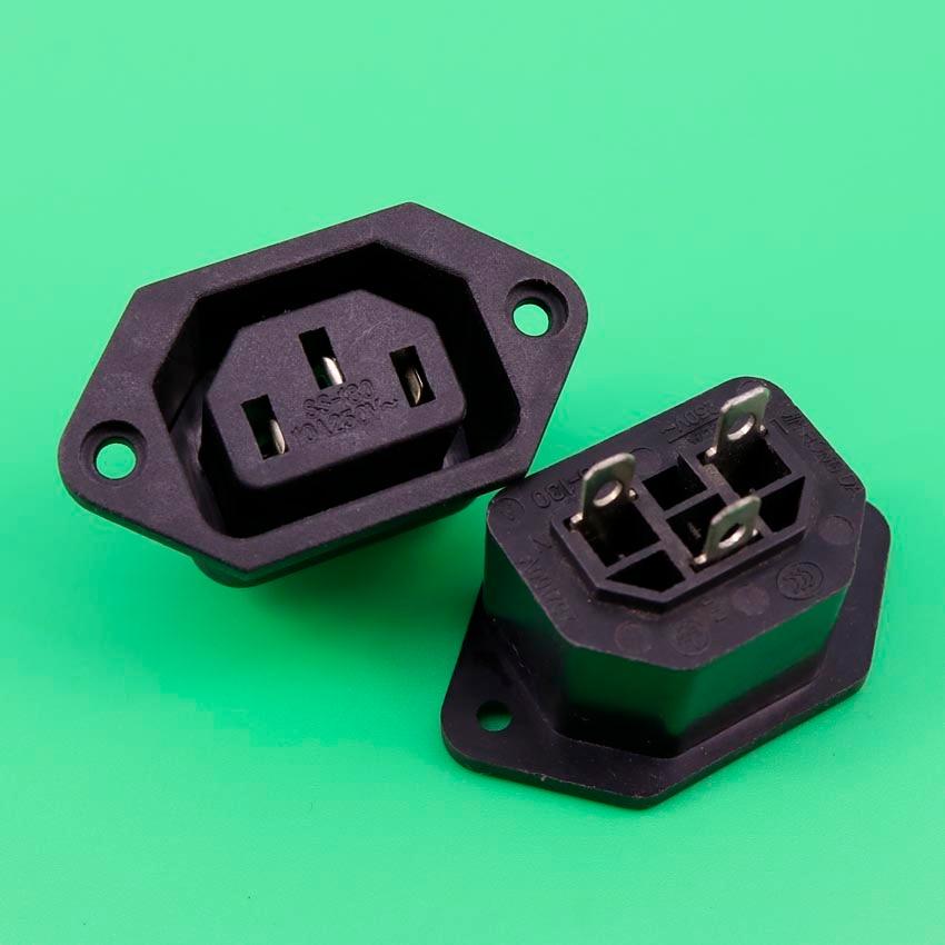 YuXi Female AC Power Sockets Connectors 250V 10A FR Computer Amplifier IEC 320 71626 1007 i o connectors lfh vt female 30au female 30au 16 mr li
