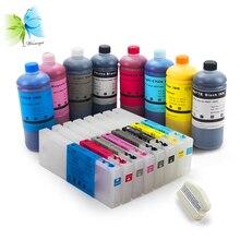 Winnerjet 300ml T5441-T5448 empty Refill Ink Cartridge +Pigment ink for Epson Stylus Pro 4000 printer+ free chip resetter