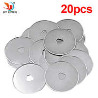 20pcs 45mm Rotary Cutter Disc Blade Replacement Refill Blades Fabric Vinyl Paper Patchwork Leather Sewing Tools Circular Cut Kit