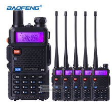 5set/lot BaoFeng UV5R 5W Dual Band VHF/UHF136-174Mhz&400-520Mhz Portable CB Ham Radio Communicator Walkie Talkie HF Transceiver