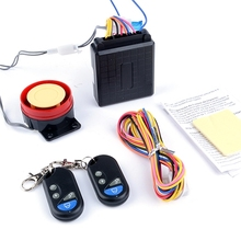 Free Shipping 125dB New Motorcycle Bike Anti-theft Security Alarm System Remote Control Engine Start 12V