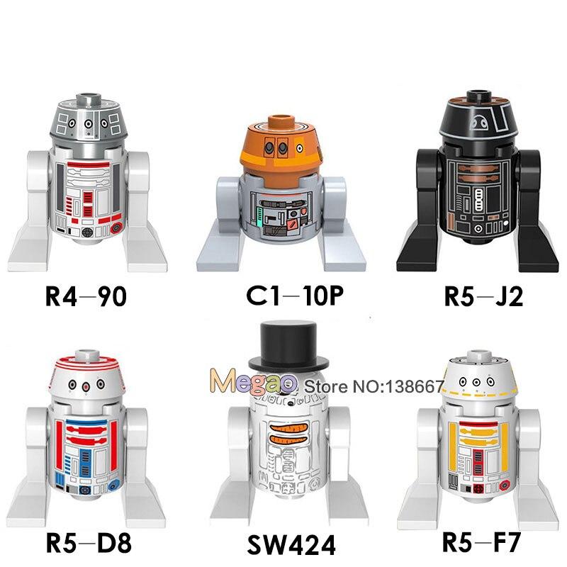 Blocks Single Sale Star Wars Figure Clone Trooper Mace Windu R4-90 C1-10p R5-j2 R5-d8 Sw424 R5f7 Building Blocks Set Models Toys Model Building