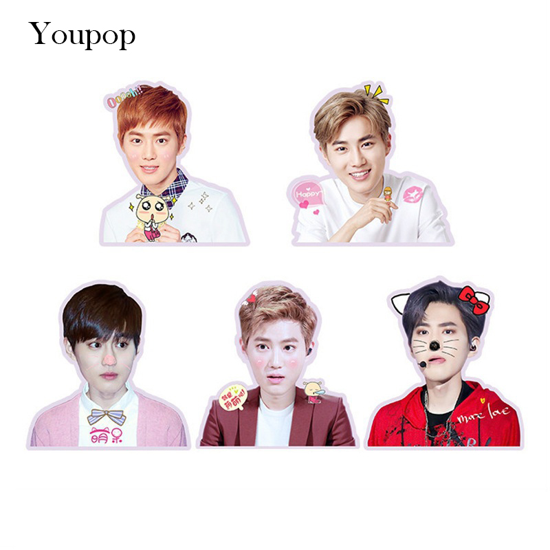 Humorous Kpop Exo Sehun Chanyeol Cute Pvc Sticker For Laptop Cup Notebook Scrapbook Diy Stickers Waterproof Moderate Price Beads & Jewelry Making