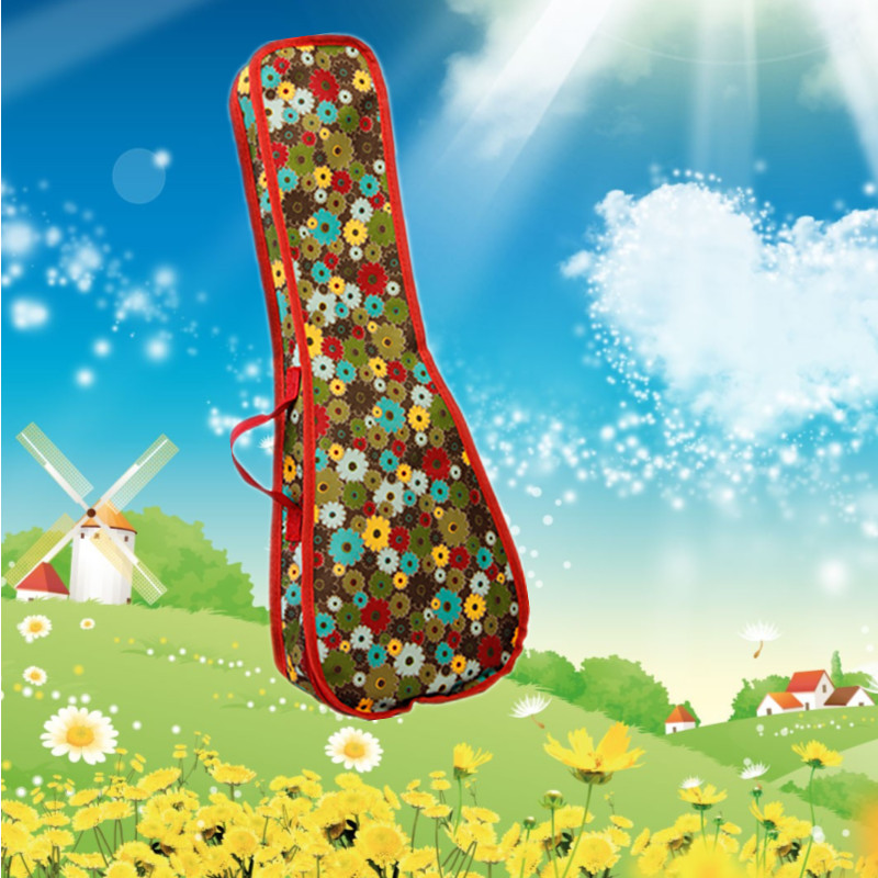 Portable Durable 21 23 24 26 28 Soprano  Ukulele Case Guitar Bag Soft Gig Cover Tenor Lanikai Concert Color Backpack Strap
