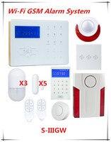 Big Discount Voice Prompt Wifi Network Smart Alarm GSM Alarm System Home Automation Wifi Burglar Alarm