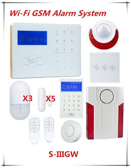 Grande sconto Voice Prompt Wifi Network Allarme Intelligente Sistema di Allarme di GSM Home Automation Wifi Sistema di Allarme Antifurto