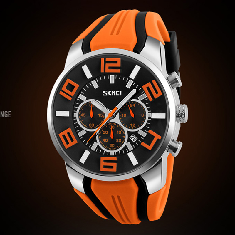 Image 2 - Relógios masculinos marca de luxo skmei chronograph men sports  relógios à prova dwaterproof água masculino relógio de quartzo reloj  hombre 2018Relógios de quartzo