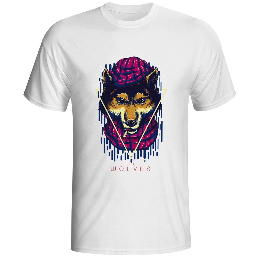 I Have A Wolf Strain T Shirt Smoking Animal Style Rock Pop T shirt Novelty Fashion Creative Unisex Tee in T Shirts from Men 39 s Clothing