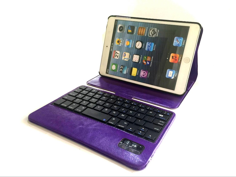 2 in 1 For Apple IPAD mini 360 ROTATING Stander Leather Case + Wireless Bluetooth Keyboard for ipad mini 1 2 3