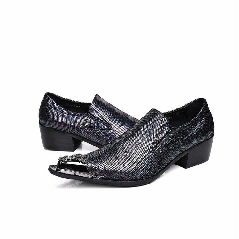 Casual Hommes Bout Pointu Partie Robe De Noir 46 Mabaiwan Taille Chaussures Mariage Mode Mocassins Nouveau Slip Métal Sur Appartements 38 Pantoufle 5RAjL34q