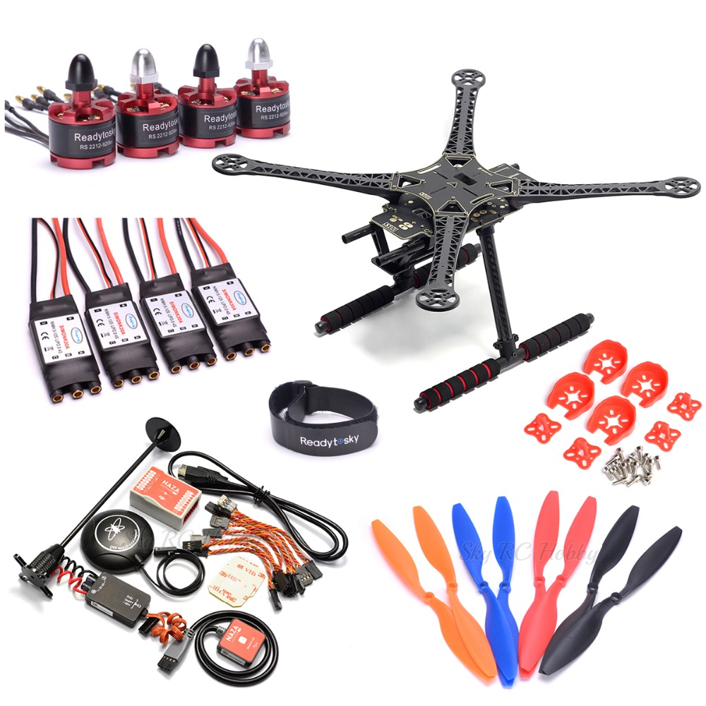 S500 500mm / F450 Quadcopter Frame kit + Naza M Lite Flight Controller Board w/ PMU LED M8M GPS + 2212 920KV motor 30A ESC-in Parts & Accessories from Toys & Hobbies    1