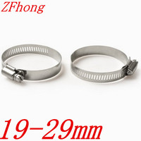 20pcs/lot 19mm to 29mm 19-29mm American type stainless steel hose clamp