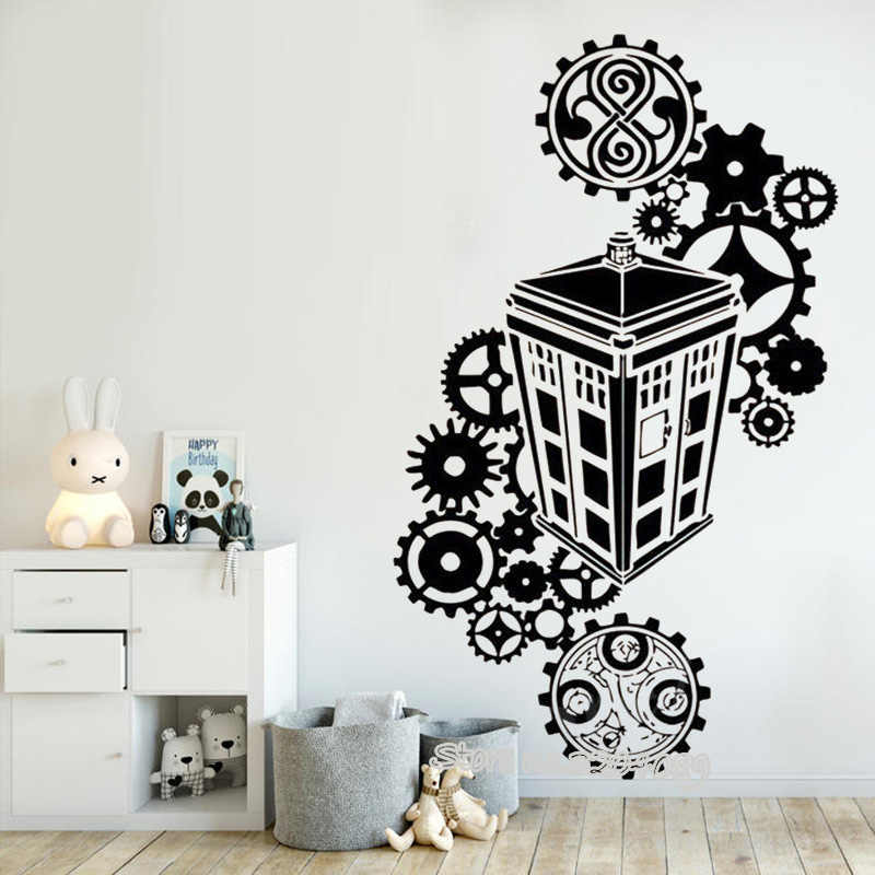 Tardis Doctor Who Silhouette Wall Stickers Vinyl Decals Famous Police Box Kids Bedroom Living Room Nursery Decor Murals Ea317 Wall Stickers Aliexpress