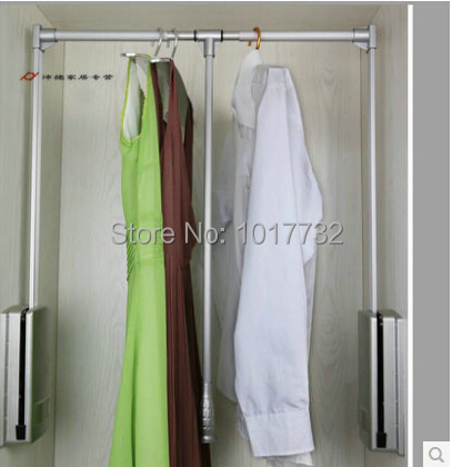 Wardrobe Lift Clothes Rack Hanger Closet Automatic Pneumatic Hydraulic  Adjustable Hanging Clothes Rod With Damping