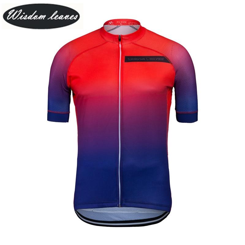 Wisdom Leaves 2017 Designer Brand Men profesional cycling jersey Women Short sleeve bike clothing Team motocross