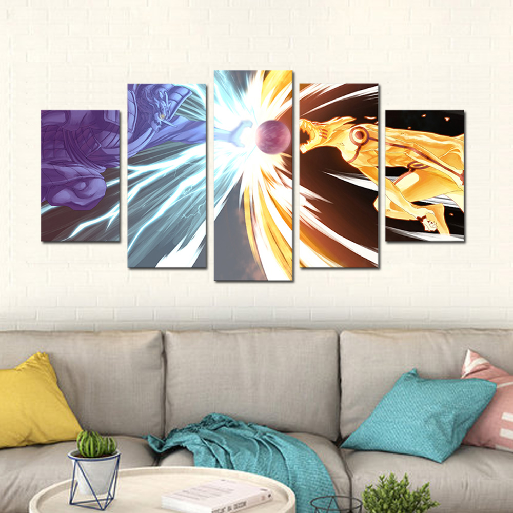 Unframed Canvas Prints Animatio Naruto KURAMA Giclee Modular Picture Prints Wall Pictures For Living Room Wall Art Decoration
