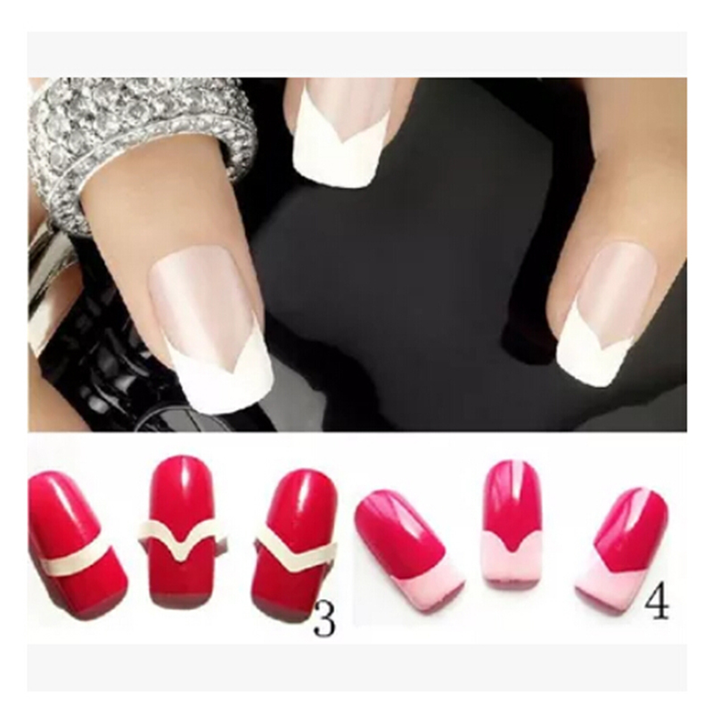 JETTING 1 Sheet DIY Nail Guide Tip Sticker 3 Style French Manicure ...