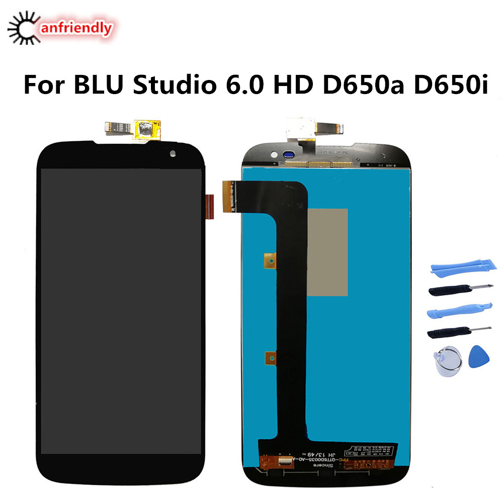 For BLU Studio 6.0 HD D650a D650i LCD Display+Touch Screen Replacment Digitizer Assembly Phone Repair For BLU D650 D 650 lcds
