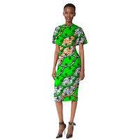 Пикантные Повседневное Стиль ярко Цветной печати Африки платье Slim Fit Женская одежда индивидуальный заказ Дашики одежда плюс Размеры