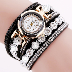 Duoya brand women bracelet watch 2016 crystal round dial luxury wrist watch for women dress gold.jpg 250x250