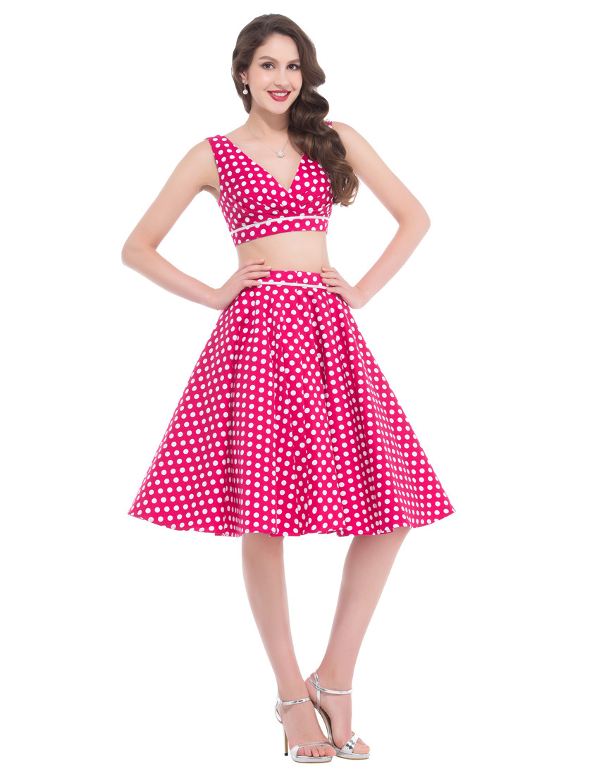 086bbb682ced Belle Poque Cotton Retro 50s Rockabilly Vintage Swing Pinup Casual Dresses  Women Two Piece Dress Short Summer Set BP000026