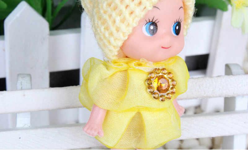 1PCS Mini Kawaii Ddung Bambola best Regalo Del Giocattolo per la Ragazza Della Catena Chiave Della Bambola Confuso Pendente Del Telefono Ornamento