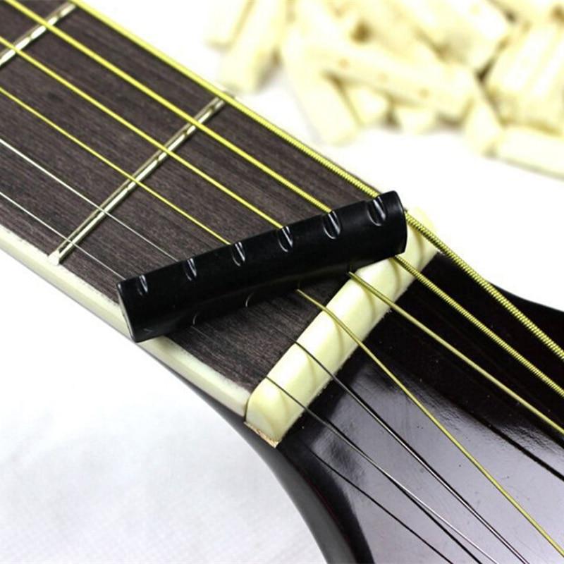 new hot 2 sets black buffalo bone guitar bridge nut saddle slotted for 6 string classical guitar. Black Bedroom Furniture Sets. Home Design Ideas