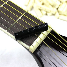 New Hot 2 Sets Hitam Buffalo Tulang Gitar Bridge Nut Saddle & Slotted Untuk 6 String Gitar Klasik(China)