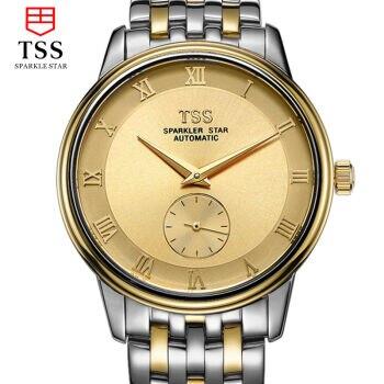 Original Luxury Brand TSS Carftsmaen Men Full Steel Band Watches Mens gold Mechanical Watch Clocks Business