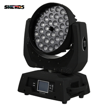 free shipping led wash zoom moving head light 36x15w rgbw 5in1 dmx stage light wash moving heads