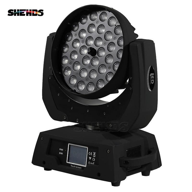 Livraison rapide LED lavage Zoom lumière principale mobile 36x18W RGBWA + UV 6IN1 écran tactile DMX 13/19 canaux bon pour DJ Disco Party Bar