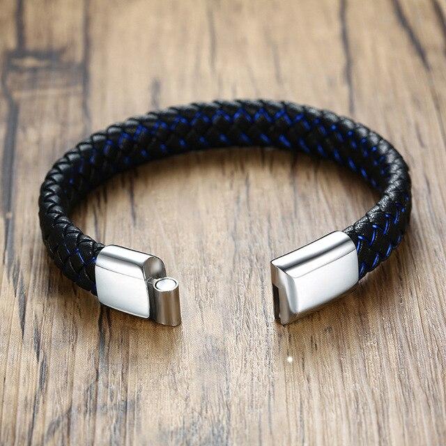 Фото высококачественный модный мужской индивидуальный браслет черный цена