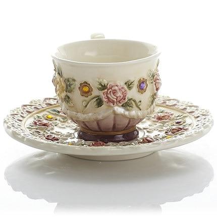 Belle personnalité jardin tasse créative après-midi thé rose thé tasse café tasse fruits jus tasse cadeau - 3