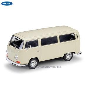 WELLY 1:24 Volkswagen 1972 T2 автобус фургон моделирование сплав модель автомобиля ремесла украшение коллекция игрушечные инструменты подарок