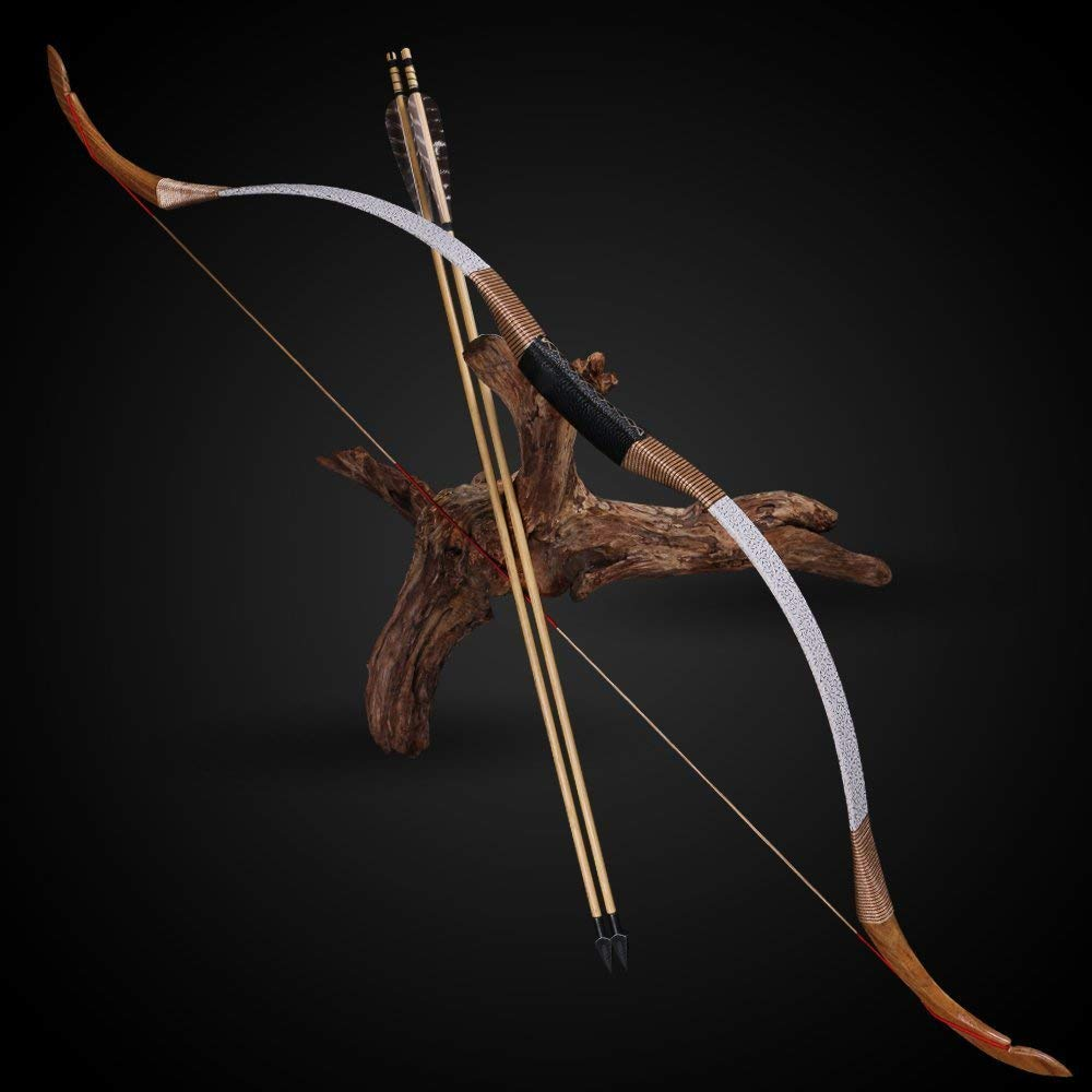 25 50lbs Archery Pure Handmade Recurve Bow Traditional longbow Wooden Hunting Target Shooting Laminated new Games