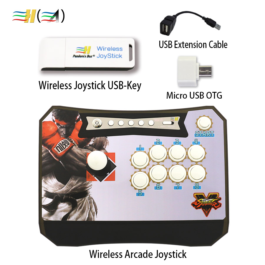 Pandora's box zero delay USB-Key wireless arcade joystick controller control joystick for pc ps3 xbox 360 raspberry Android pc wireless gaming receiver docking charger station for xbox 360 wireless controller