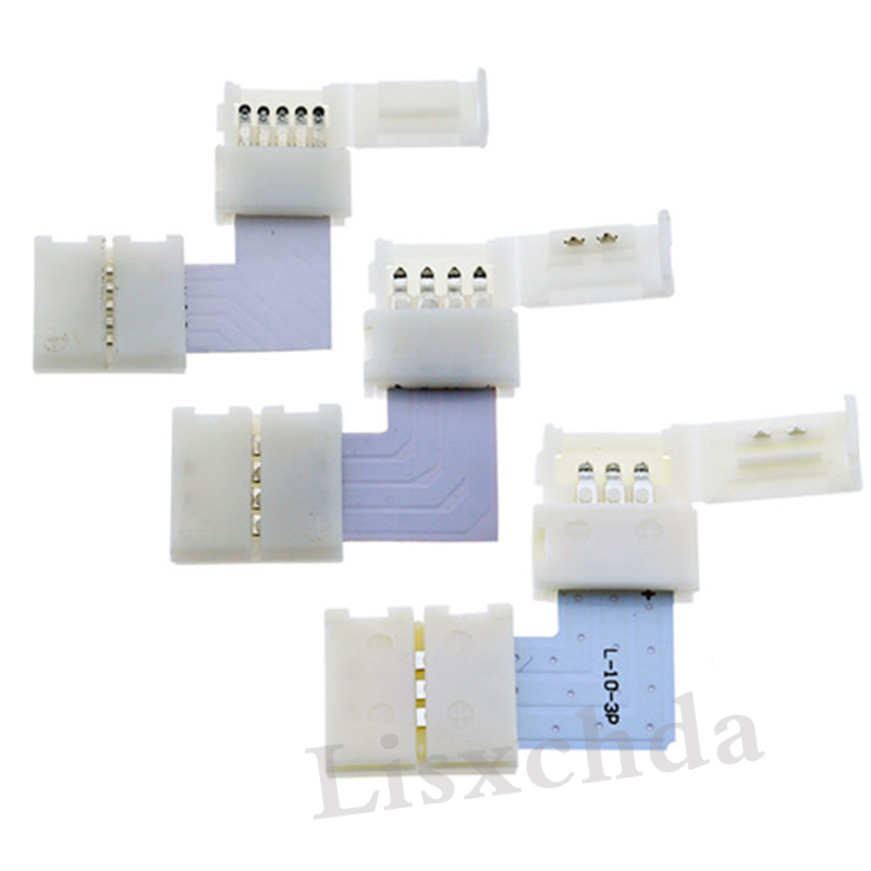 2pin 3pin 4pin 5pin 8mm 10mm 12mm L Shape LED Connector For connecting corner right angle 3528 2812 5050 RGB rgbw LED Strip 10pcs lot 2pin 4pin 5pin led strip connector for single rgb rgbw color 3528 5050 led strip to wire connection use terminals