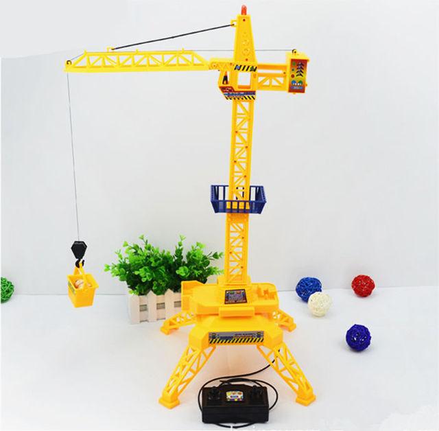 Nuevo y extraño de control de alambre de construcción grúa torre Modelo de Simulación de juguetes Educativos regalo de los cabritos Juguete RC coche de control remoto con cable