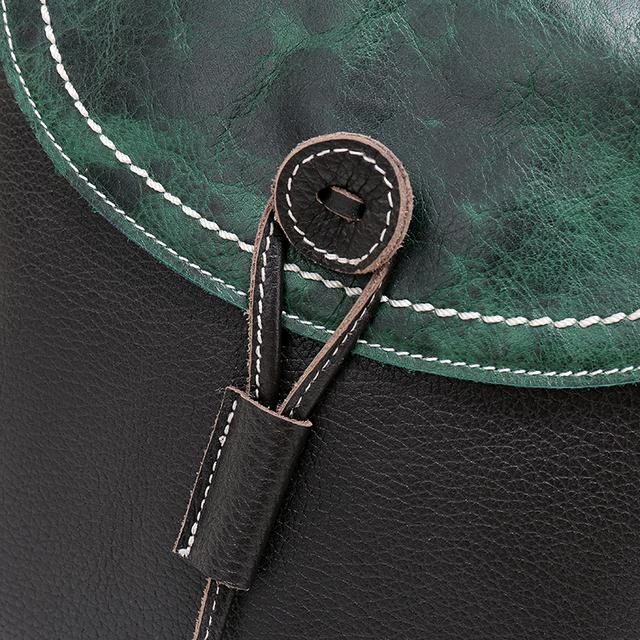 Nuleez Genuine Leather Shoulder Handbags Women Cow Leather Messenger Bags Bucket Crossbody Green Black Summer China Handbag 1219