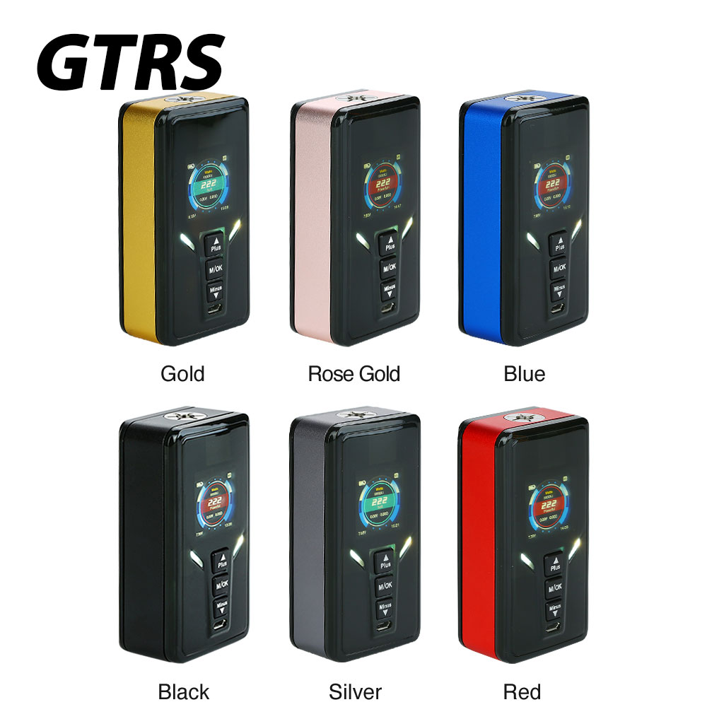 Electronic Cigarette 222W GTRS VBOY 20700 TC Box MOD with SX520 Chip Max 222W Output No 18650 Battery Box Mod GTRS VBOY Box Mod small cigarette box vending machine bjy b50 with light box