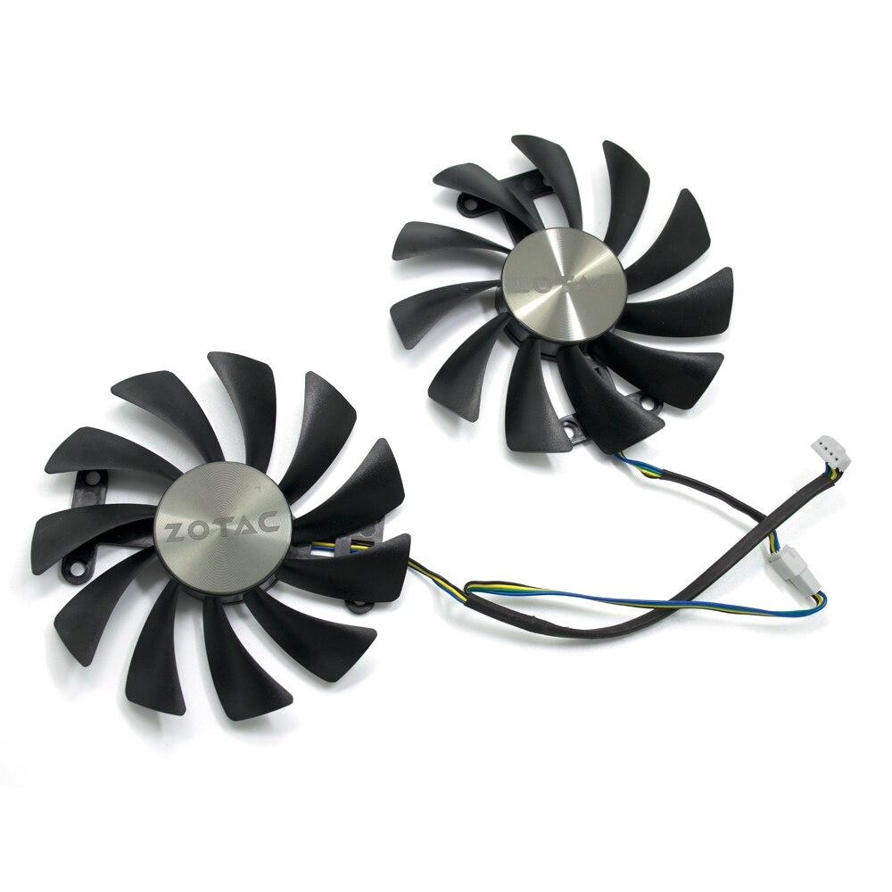 NOVA 95mm 4PIN GTX 1080 Refrigerador de ventoinha Para Edição 8G GTX ZOTAC GeForce GTX 1070 AMP 1080 AMP edição 8G Placas Gráficas