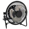 Polegadas graus de rotação usb alimentado elétrica do metal mini ventilador de mesa para pc/laptop/notebook (preto)