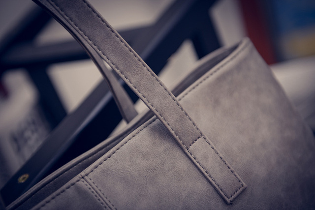 Women Scrub Leather Handbag Black Grey Causal Tote Bag Large Capacity Shoulder bag Shopping Luxury Handbags Women Bags Designer 4