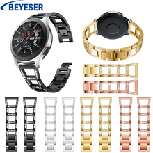22mm For Samsung Gear S3 frontier strap Rhinestone Metal stainless steel luxury band For Samsung Galaxy Watch 46MM watchband