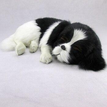 Simulation dog polyethylene&furs dog model funny gift about 35cmx25cmx9cm