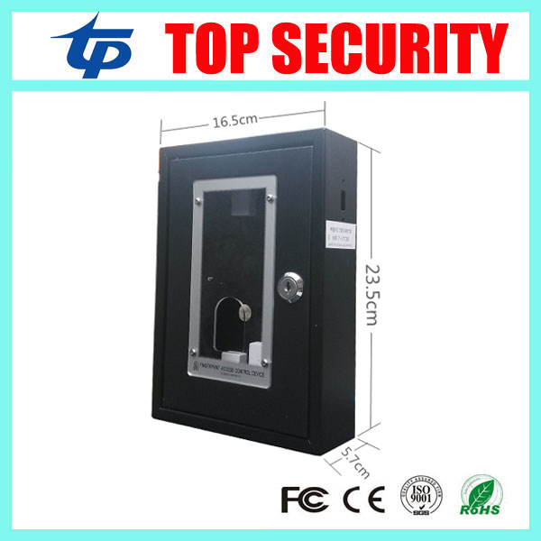 F7 fingerprint access control metal protect box out door use protect cover box biometric fingerprint access controller tcp ip fingerprint door access control reader